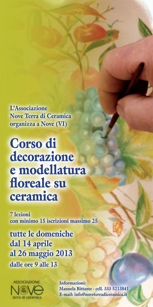 corso di decorazione e modellatura floreale su ceramica